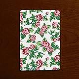 モバイルバッテリー カードサイズ 超軽量 コンパクト 花柄 クラシックローズ 赤 緑