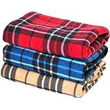 「プチリュバン」毛布3枚セット(サイズM:50×70cm)防寒冷え性予防、ひざ掛け、ペット用、いろいろ用途に