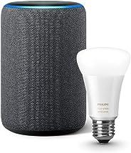 Echo Plus (エコープラス)  第2世代、チャコール  + Philips Hue ホワイトグラデーション シングルランプ