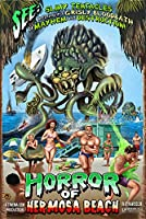 Hermosa Beach , California – Alien Attackホラー 24 x 36 Signed Art Print LANT-43605-710