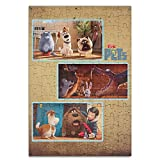 Beauty the Secret Life of Pets Family Personalized画像印刷ジグソーパズルパズルa4???120ピース