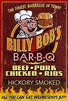 BBQ–Vintage Sign 12 x 18 Art Print LANT-55450-12x18