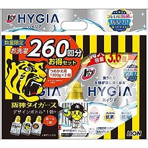 トップ ハイジア 洗濯洗剤 液体 詰替超特大 1300g×2個パック+阪神タイガースデザイン空ボトル付き