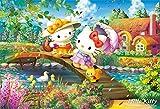 300ピース ジグソーパズル ハローキティの花咲くコテージ(26x38cm)