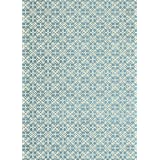 RUGGABLE Washable Indoor/Outdoor Stain Resistant Area Rug 2pc Set (Cover and Pad) Floral Tiles Aqua Blue (152 x 213cm)