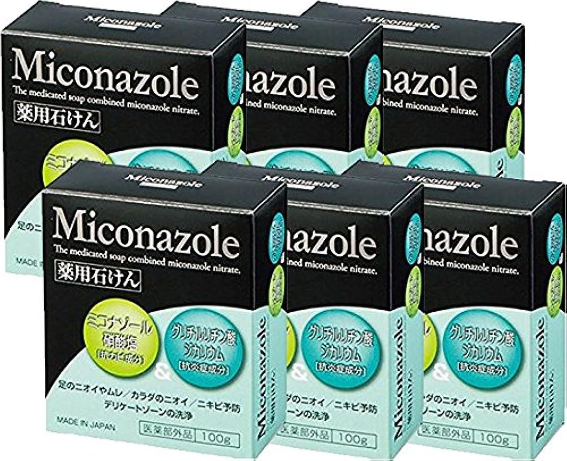 配置条約アンケートミコナゾール 薬用せっけん 100g 《医薬部外品》 (6個)