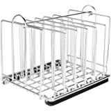 EVERIE Weighted Sous Vide Rack Divider, Improved Vertical Mount Stops Wobbling, 5 Detachable Stainless Steel Dividers and 2 B
