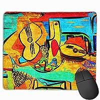 カラージオメトリ マウスパッド 25×30 大判 ノンスリップ 防水 ゲーミング おしゃれ マウスの精密度を上がる