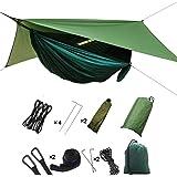HIKANT Camping Hammock Set:Single Hammock,Mosquito Net,Rainfly Tarp Tent,(Lightweight,Waterproof,Sun-Shade) Hammock Tent Perf