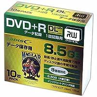 【100枚セット】HI-DISC データ用DVD+R DL HDD+R85HP10SC 10枚スリムケース×10個
