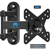 Mounting Dream Full Motion Monitor Wall Mount TV Bracket for 10-26 Inch LED, LCD Flat Screen TV and Monitor, TV Mount with Sw