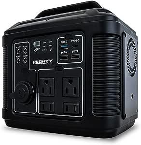 ポータブル電源 MIGHTY 89600mAh USB PD100W(Input/Output) パナソニック製リチウムイオン電池搭載 LEDライト 600ルーメン