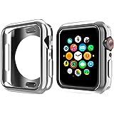 NN.ORANIE コンパチブル Apple Watch Series6/SE/ 5/4 ケース 44mm メッキ TP…
