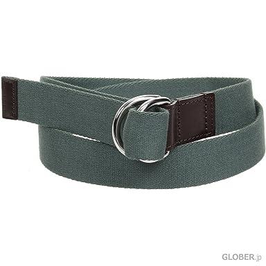 Webbing +D Belt B2365: Green / Havana
