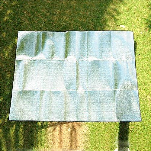 KGLJEAN 軽量 折りたたみ レジャーシート 防水仕様 キャンピングマット 厚手 アルミ 断熱 200×200cm 収納袋付