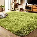 YJ.GWL ラグカーペット 緑 ラグマット2畳 12色選べる 120 160cm ふわふわじゅうたん カーペット 洗える 夏 センターラグ グリーン