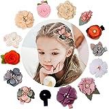 Hair Clips for Baby Hair Clips Set for Little Girls, Toddler, Kids,Fully linedFlower Hair Accessories For Baby Girls