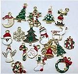 Kicode ミックスクリスマスチャームセット 19個 多色