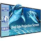 150inch Projector Screen Portable Foldable for LED Projectors