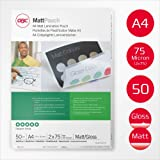 GBC Matt/Gloss Laminating Pouches 2 x 75 Micron A4 - Pack of 50