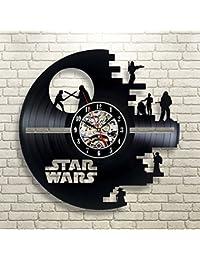 スターウォーズの恋人のためのビニールの音楽を録音壁掛け時計ギフト