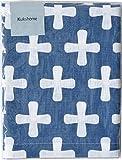ルネ・デュー クッションカバー リスト/ブルー 45×45cm Kukshome 2400023の写真