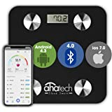AHATECH Digital weight scale, Smart Scale Bluetooth Body Fat Scale with IOS and Android APP, Smart Digital Bathroom Scale for