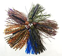 finfather Tackle 5- Pack Weedlessバス釣りジグ、ブラシ& Football、多くの色とサイズ