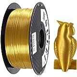 Noulei Shiny PLA 3D Printing Filament for 3D Printer, 1kg/2.2lbs Spool 1.75mm, Silk Gold