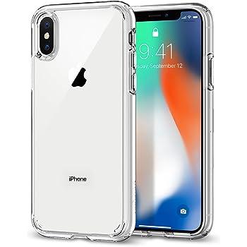 【Spigen】 スマホケース iPhone X ケース 対応 全面クリア 耐衝撃 米軍MIL規格取得 ウルトラ・ハイブリッド 057CS22127 (クリスタル・クリア)