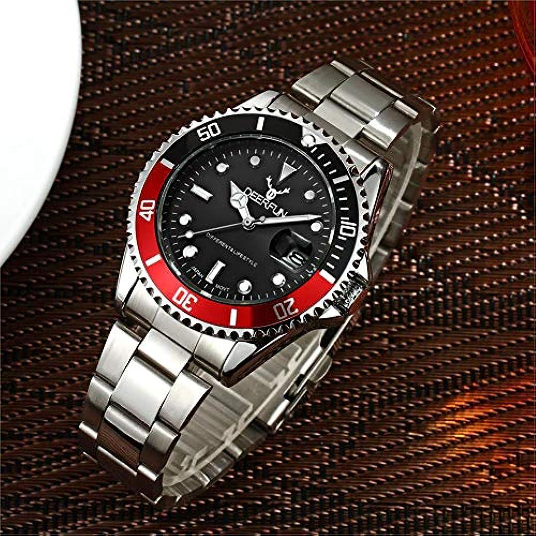 合体糸南極防水腕時計メンズ高級ブランドカジュアルステンレススチールスポーツ腕時計クォーツ腕時計メンズ腕時計 (D)