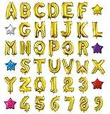 HOPIC 組み合わせ 自由 バルーン 風船 飾り付け イベント 装飾 [ アルファベット ] ( ゴールド:A )