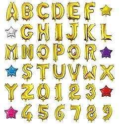 HOPIC 組み合わせ 自由 バルーン 風船 飾り付け イベント 装飾 [ アルファベット ] ( ゴールド:S )
