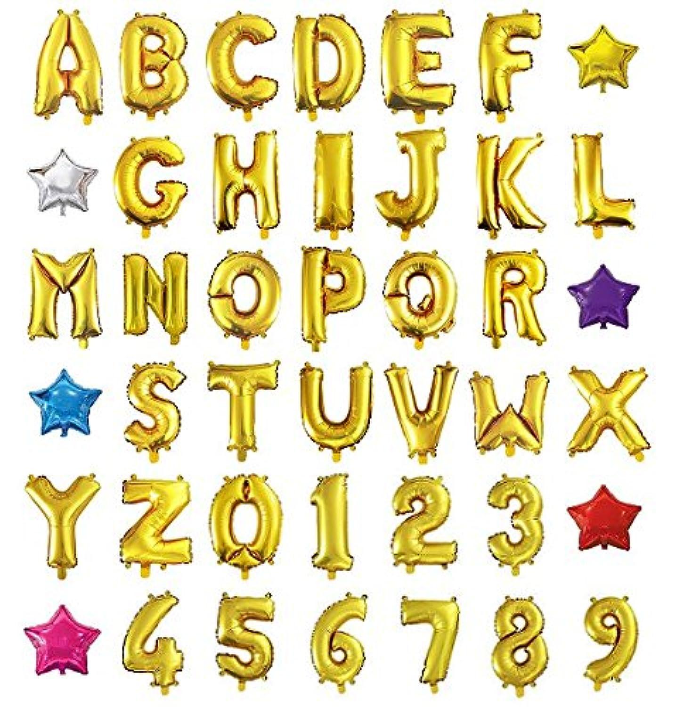 HOPIC 組み合わせ 自由 バルーン 風船 飾り付け イベント 装飾 [ アルファベット ] (ゴールド:Z)