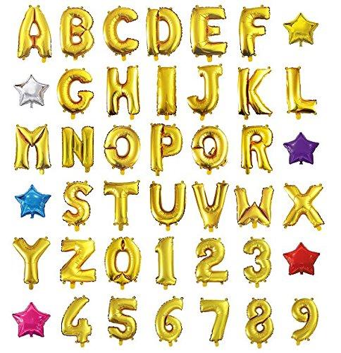 HOPIC 組み合わせ 自由 バルーン 風船 飾り付け イベント 装飾 [ アルファベット ] ( ゴールド:P )