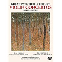 Sibelius: Great Twentieth-Century Violin Concertos in Full Score
