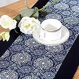 日本式模様のテーブルの旗 テーブル ランナー テーブルランナーコットンリネンのプリントのテーブルの旗 昔の風俗習慣のお茶の席 100%綿手作業製品 贈り物 (30*150)
