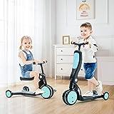 beberoad キックスクーター 5 in 1子供用3輪キックボード 3階段調節可能 三輪車 後輪ブレーキ 乗用玩具…