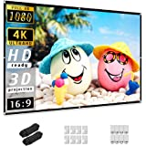 Projector Screen 84 inch, Taotique 4K Movie Projector Screen 16:9 HD Foldable and Portable Anti-Crease Indoor Outdoor Project
