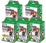 チェキフイルム instax mini インスタックスミニ 2P×5 計100枚セット & アルバム60枚収納2冊付 セット