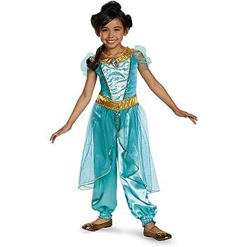 0483cb49494ed ジャスミン コスプレ ドレス 子供 女の子用 デラックス版 アラジン コスチューム ディズニー プリンセス キャラクター 仮装 グッズ (XS)   並行輸入品