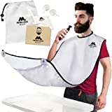 Best Beard Bib for Shaving - The Smart Way to Shave - Beard Trimming Apron 122x81cm - Perfect Grooming Gift or Mens Birthday