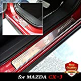 Weigesi Yingjie CX3 Stainless Steel Door Sills Scuff Plate for Mazda CX-3 Dual Tone Door Sills Mazda CX3 2015-2018 Car Accessories