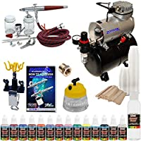 Paasche VL Airbrush Paint Set with Compressor with 12 Color US Art Supply Paint Set [並行輸入品]