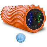 USB充電式電動フォームローラー 振動 5段階調節設計 ストレッチ ヨガ運動器具 ヨガボールー無料贈り 日本語説明書付き
