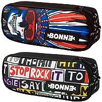 Bonne Pencil Case - Bargain Set of 2 Pencil Cases for Boys - Popular Designs - Hip Hop & Aakash