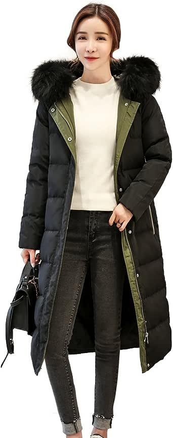 ダウンジャケット レディース カジュアル ロング ダウンコート フーディー付き 防風 防寒