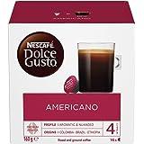 Nescafe Dolce Gusto Americano Coffee Pods/ Coffee Capsules, 16 Capsules