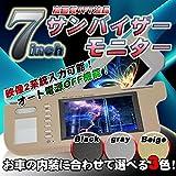 【オート電源OFF機能搭載】7インチ サンバイザーモニター 左右2個セット