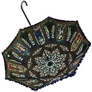 blue-cathedral(蒼き大聖堂)/ 傘 パゴダ傘 レディース UVカット 晴雨兼用 Lumiebre ルミエーブル